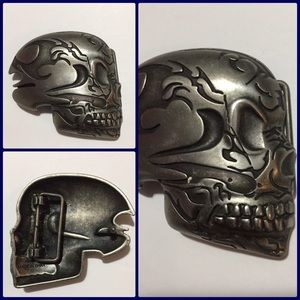 Other - Skull belt buckle, well made heavy solid like new